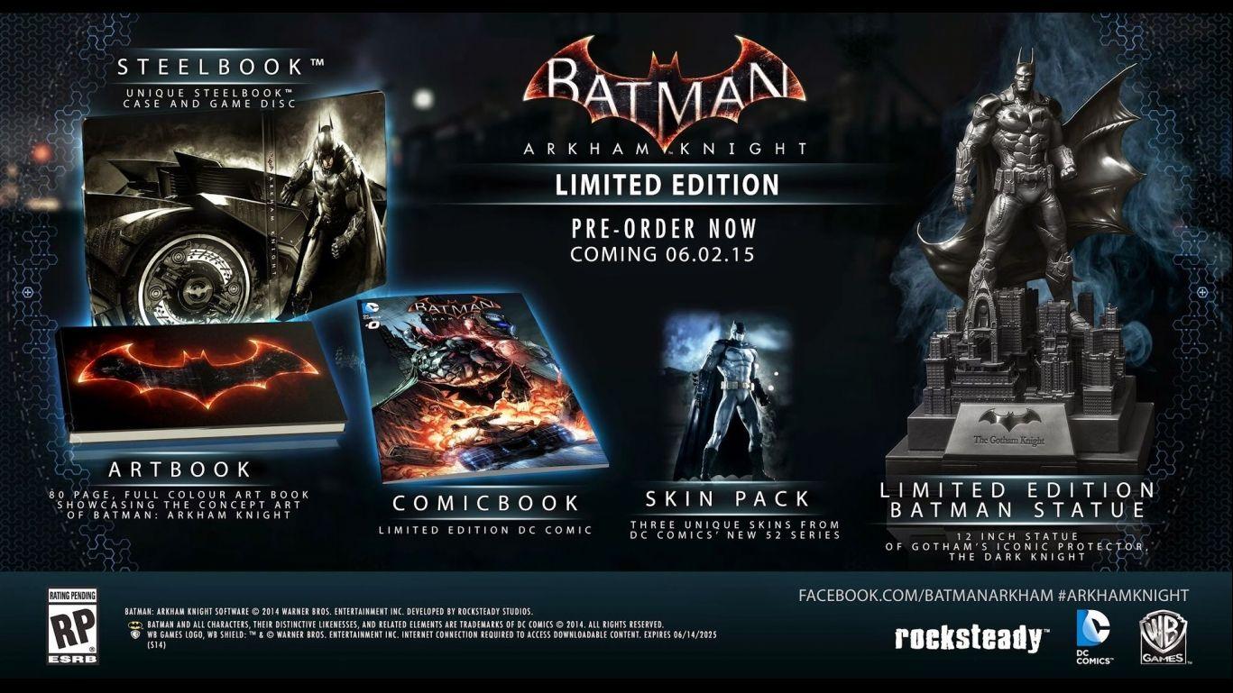 Коллекционное издание Batman Arkham Knight Limited Edition