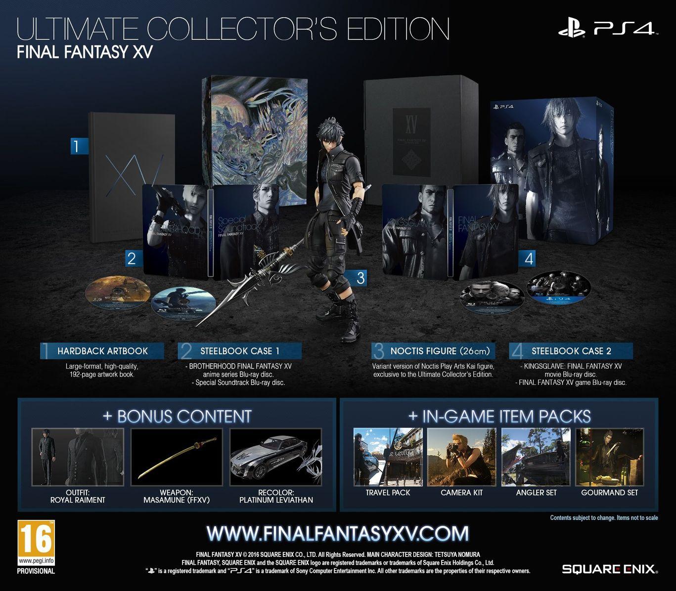 Коллекционное издание Final Fantasy XV. Ultimate Collector's Edition