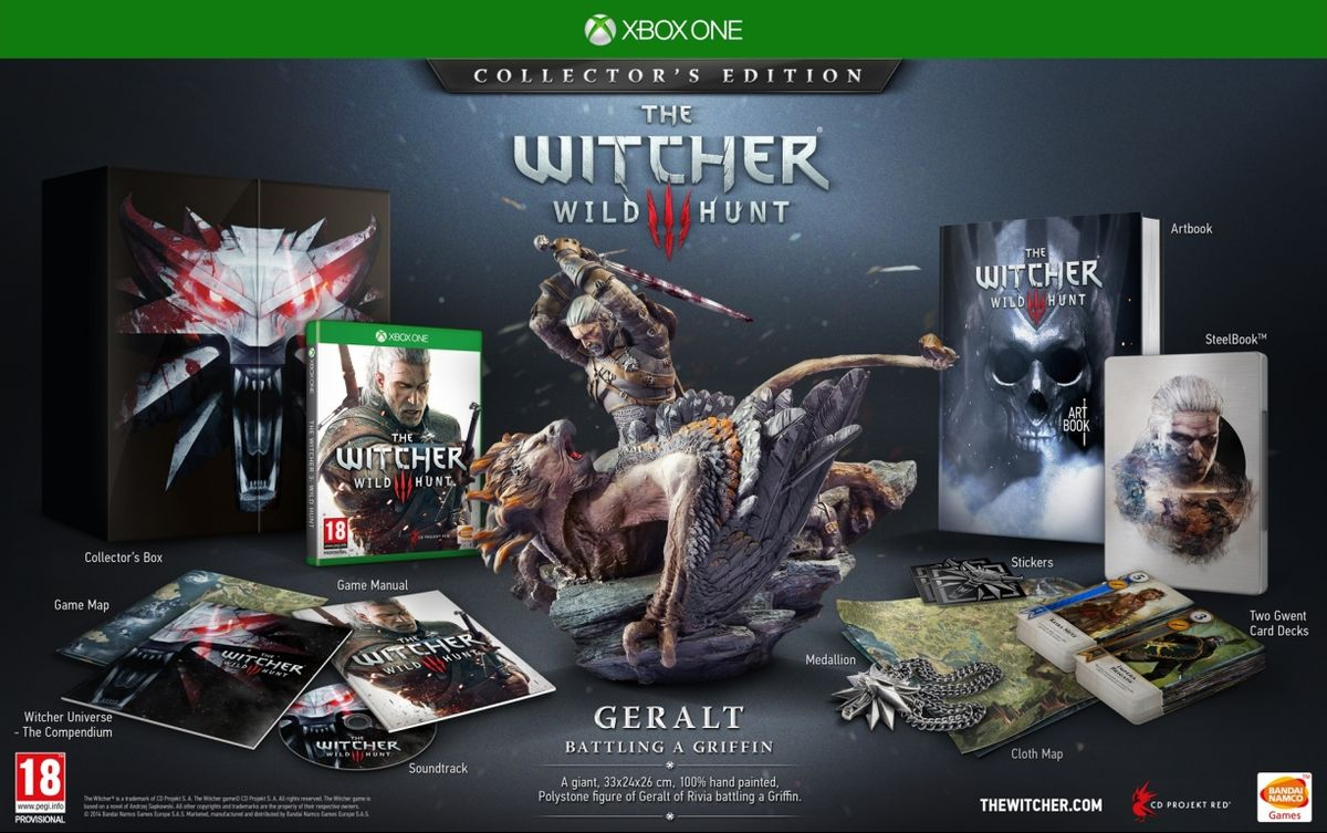 Коллекционное издание The Witcher 3 Wild Hunt Collector's Edition