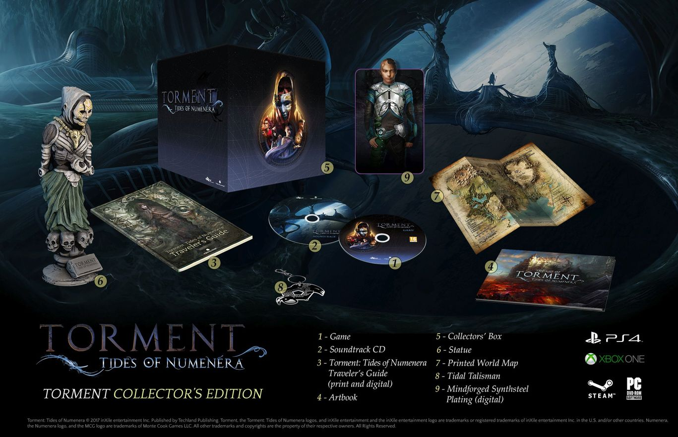 Коллекционное издание Torment Tides of Numenera Collector's Edition