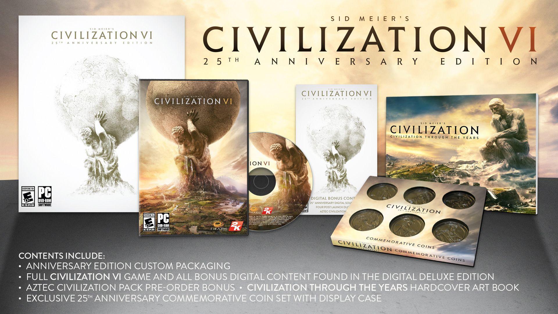 Коллекционное издание Civilization VI 25th Anniversary Edition