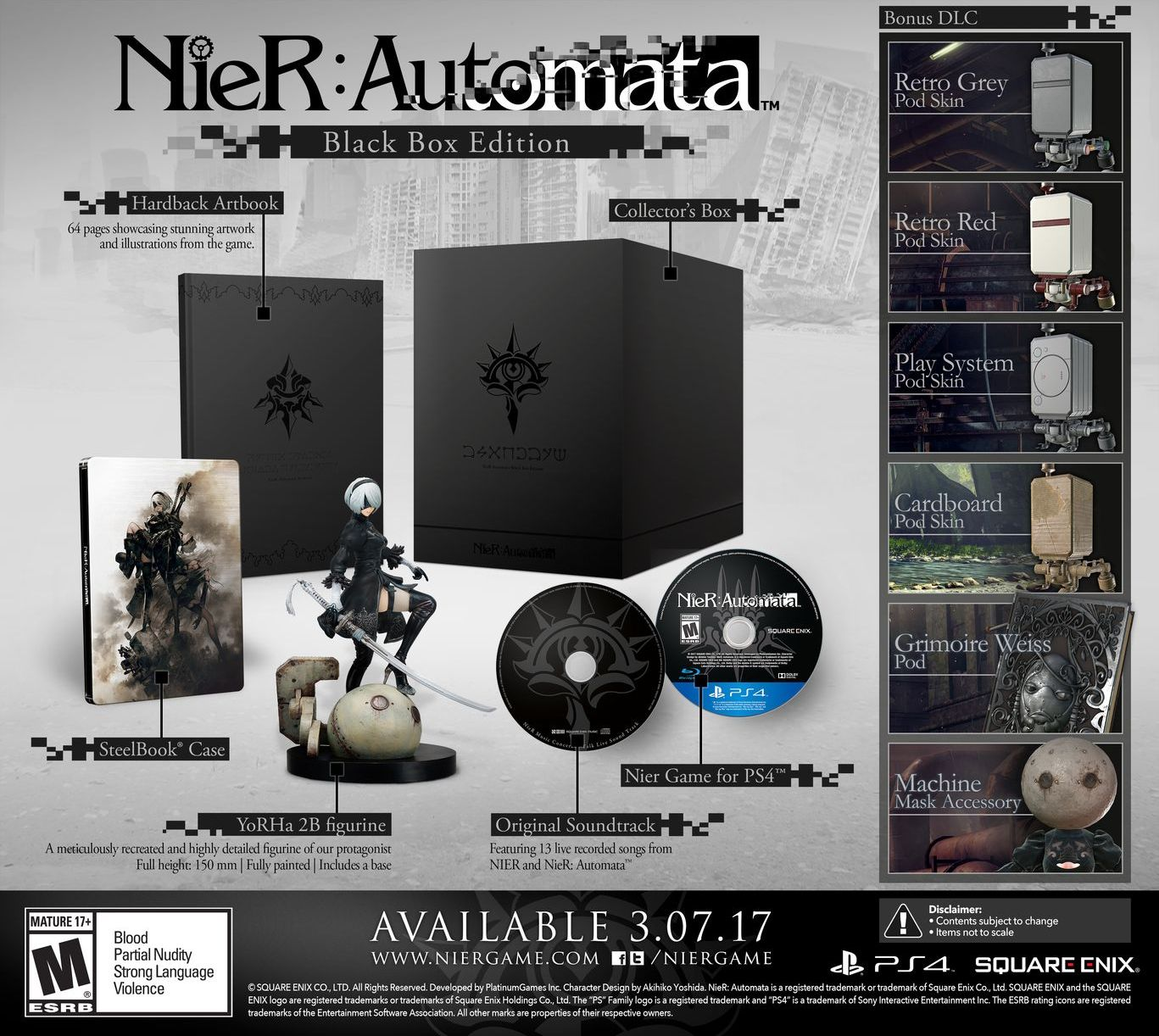 Коллекционное издание NieR Automata Black Box Edition