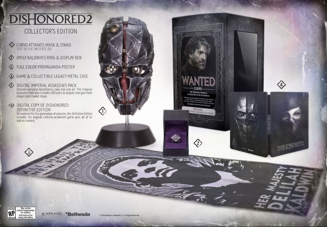 Коллекционное издание Dishonored 2 Collector's Edition
