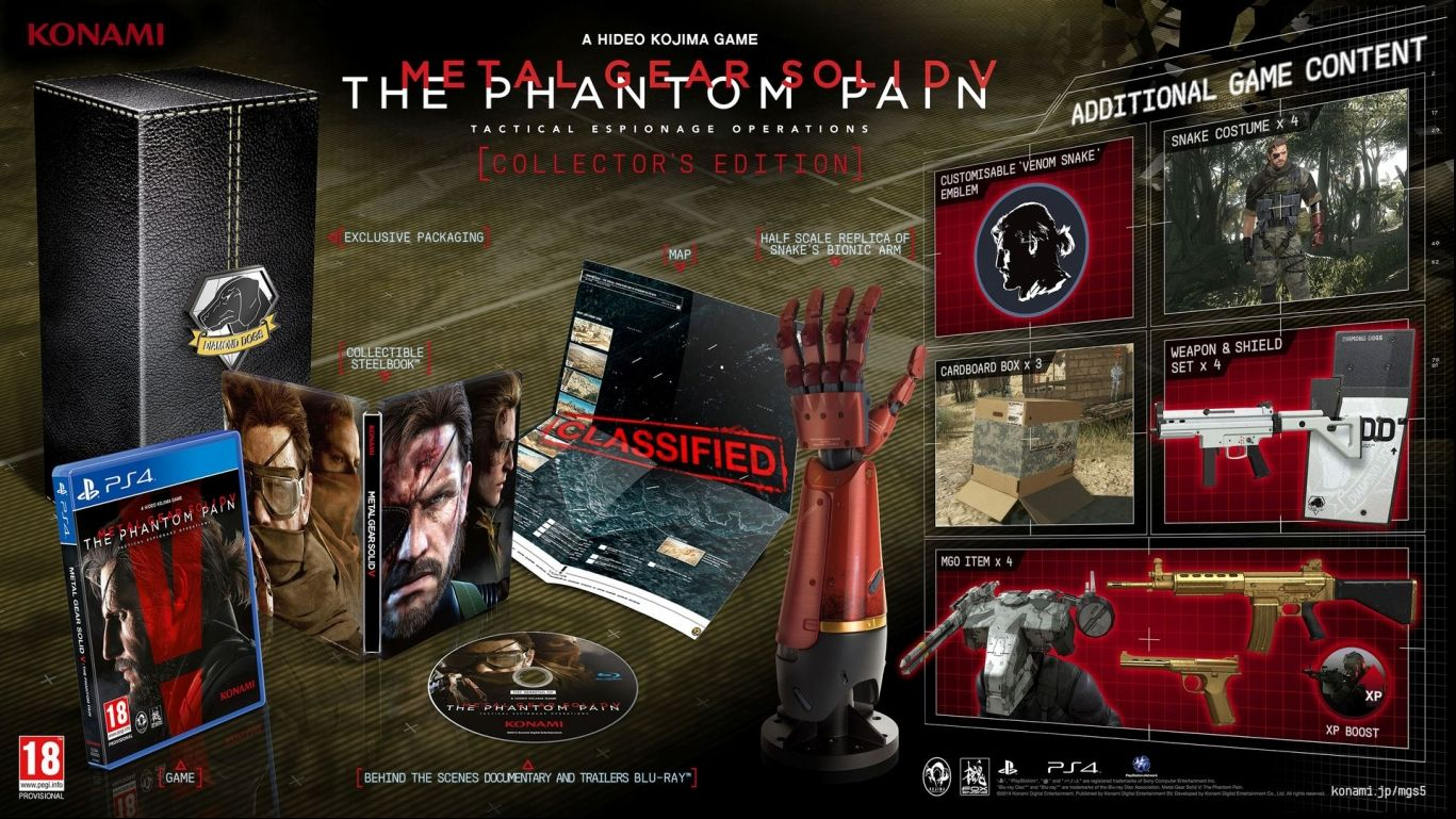 Коллекционное издание Metal Gear Solid V The Phantom Pain Collector's Edition