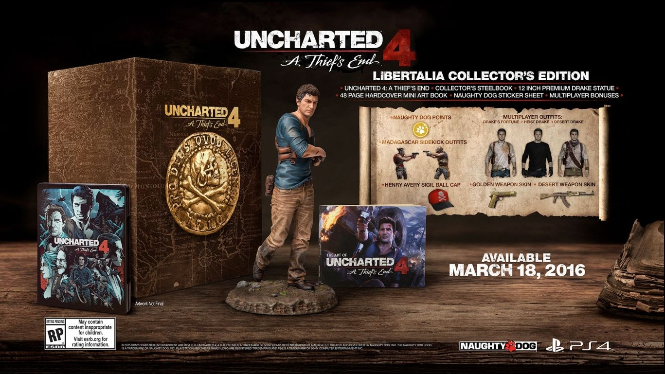 Коллекционное издание Uncharted 4 A Thief's End Libertalia Collector's Edition