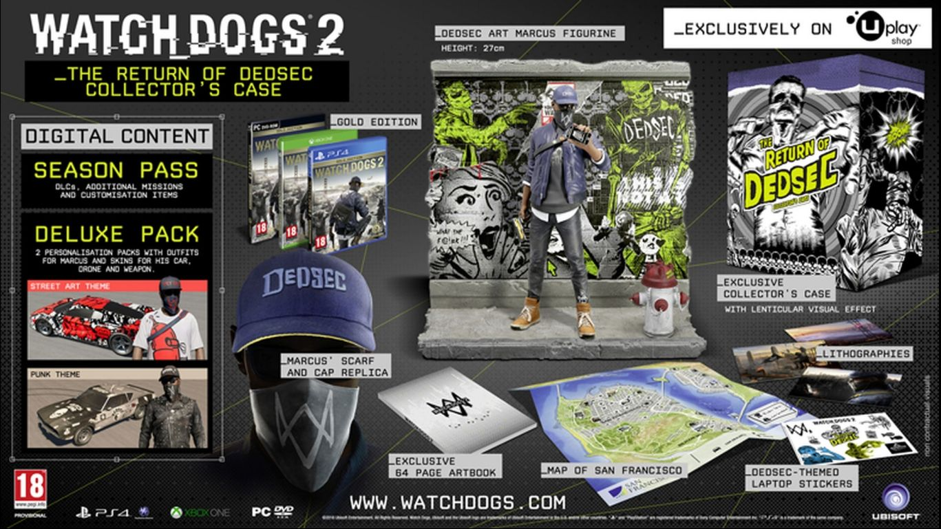 Watch Dogs 2 The Return of DedSec Collector's Case