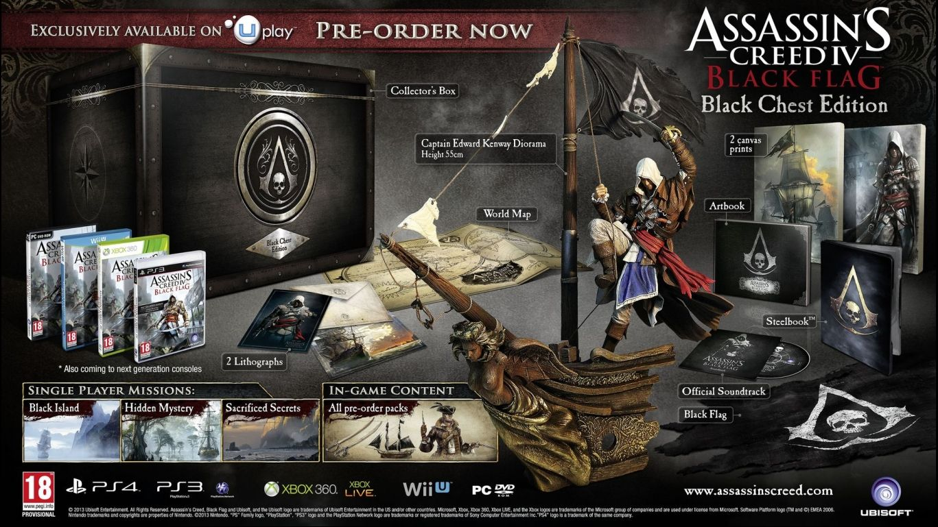Коллекционное издание Assassin's Creed IV Black Flag Black Chest Edition