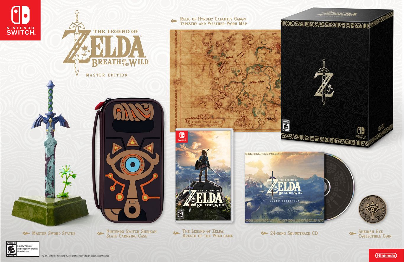 Коллекционное издание The Legend of Zelda Breath of the Wild Master Edition