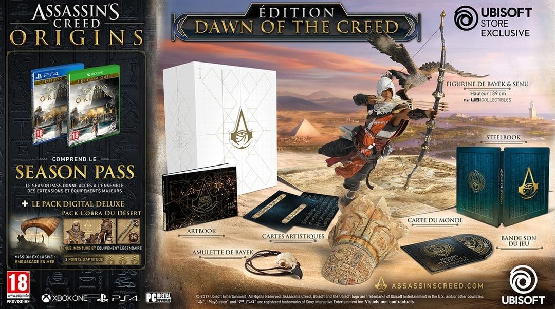 Assassin's Creed Origins Dawn of the Creed Collector's Edition