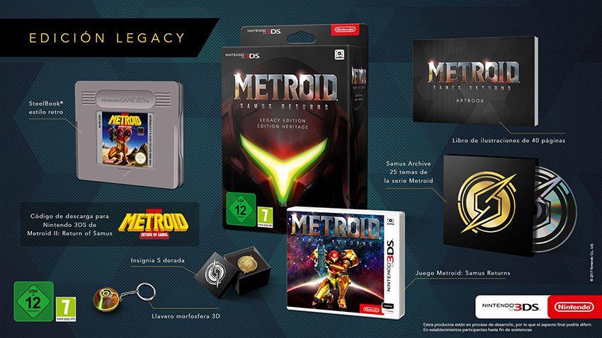 Коллекционное издание Metroid Samus Returns Legacy Edition