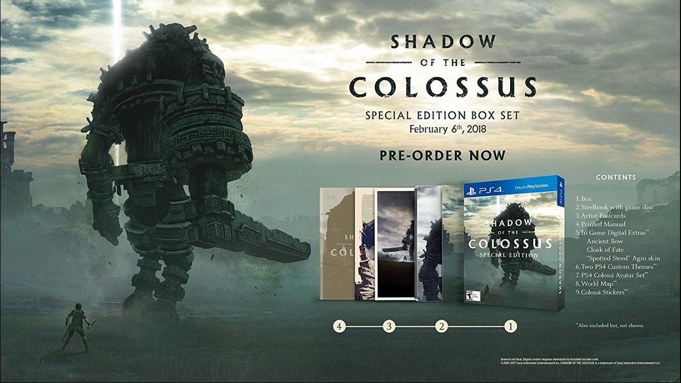 Коллекционное издание Shadow of the Colossus Special Edition