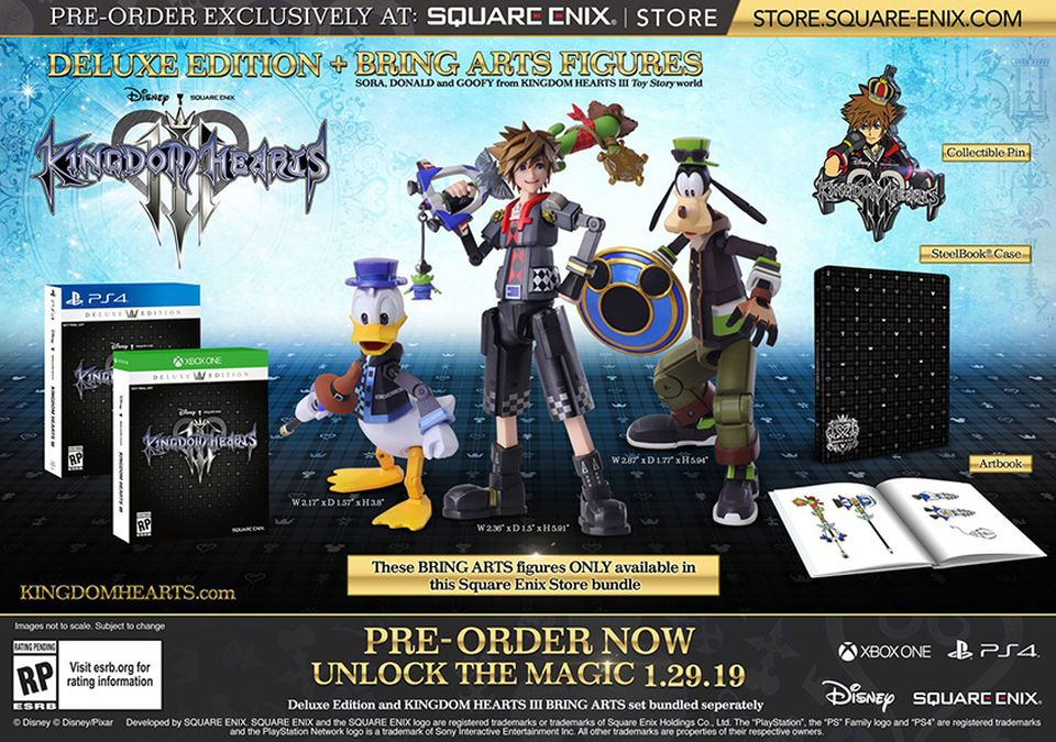 Kingdom Hearts III Deluxe Edition + Bring Arts Figures