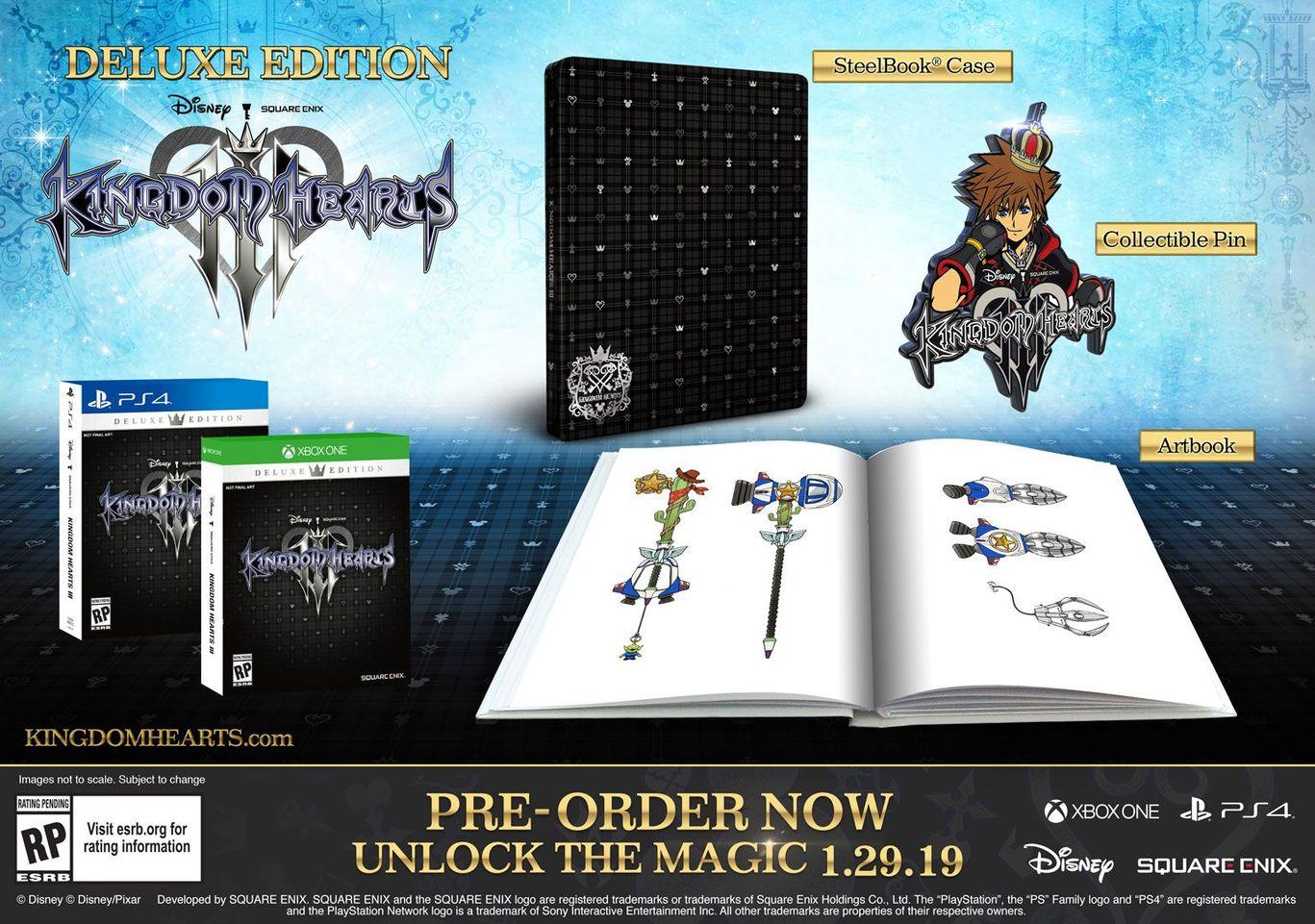 Коллекционное издание Kingdom Hearts III Deluxe Edition
