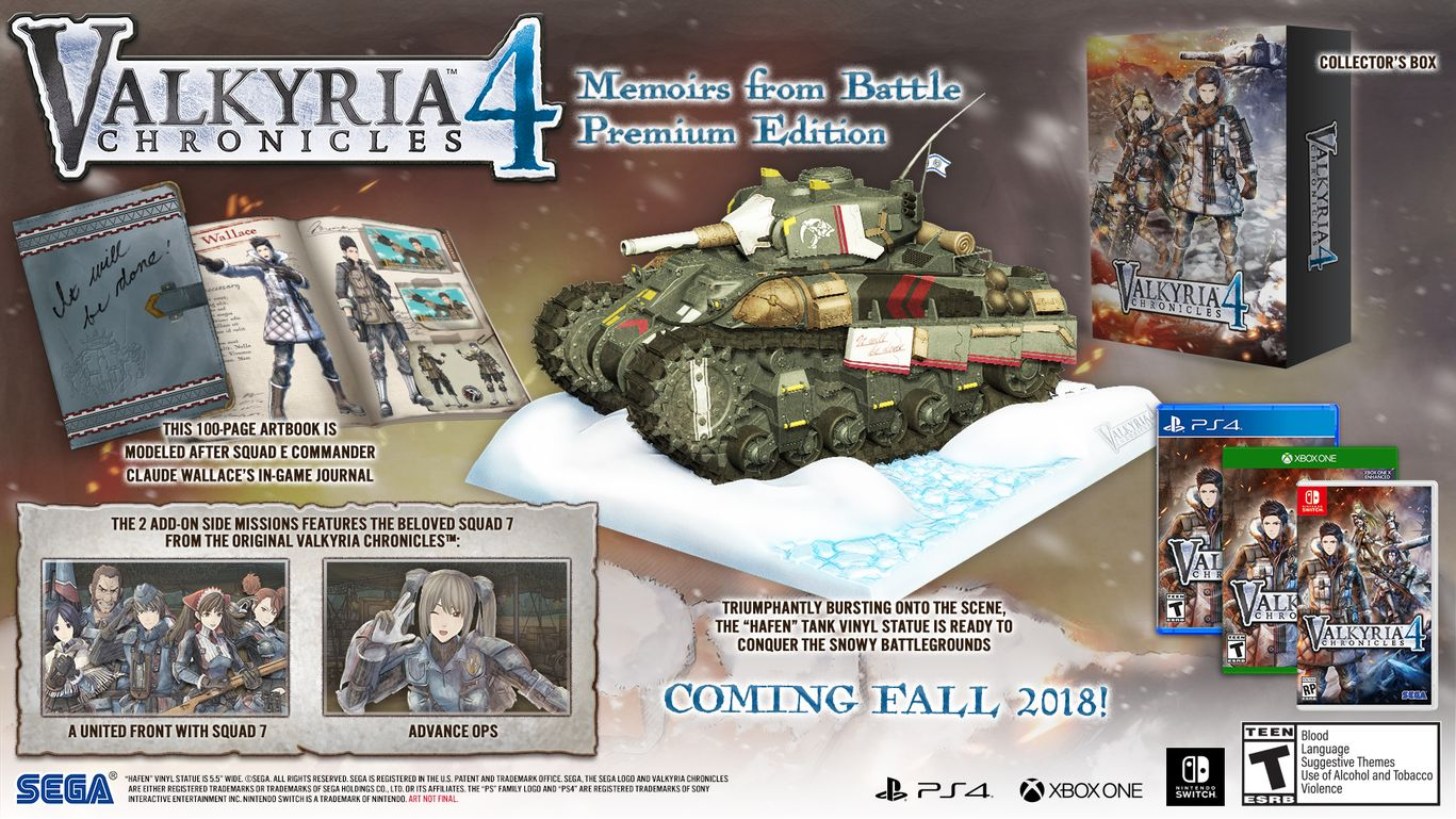 Коллекционное издание Valkyria Chronicles 4 Memoirs from Battle Edition