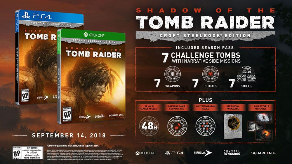 Shadow of the Tomb Raider Croft Steelbook Edition