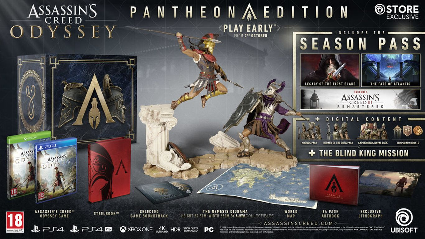Assassin's Creed Odyssey Pantheon Edition (Англия)
