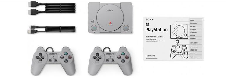 Комплектация PlayStation Classic