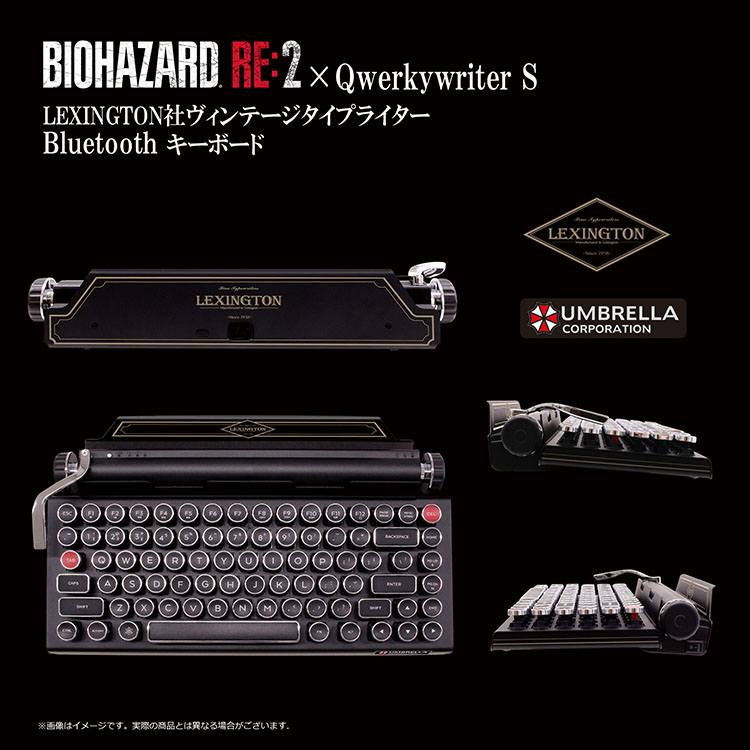 BIOHAZARD RE2×Qwerkywriter S LEXINGTON