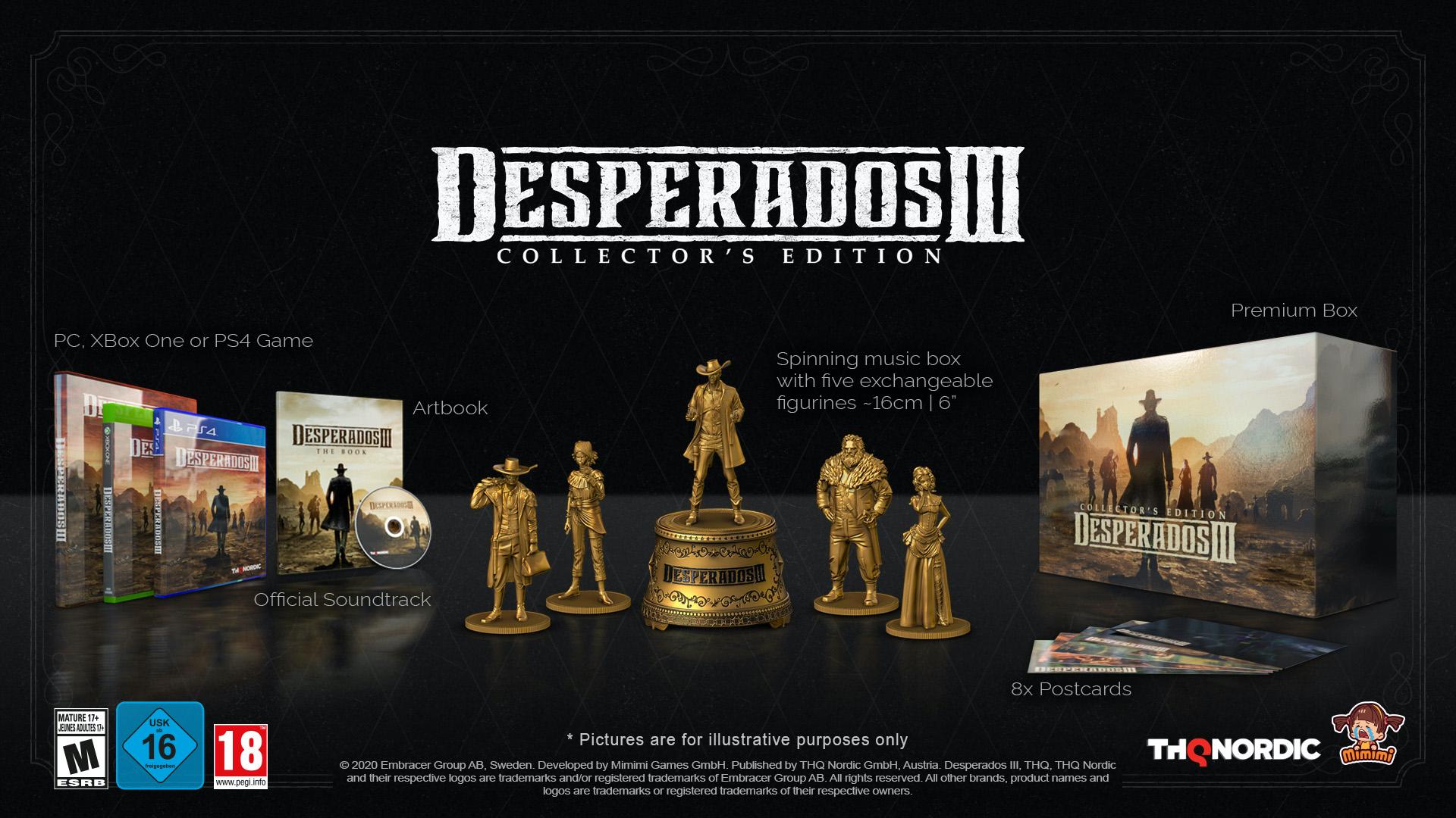 Коллекционное издание Desperados III Collector's Edition