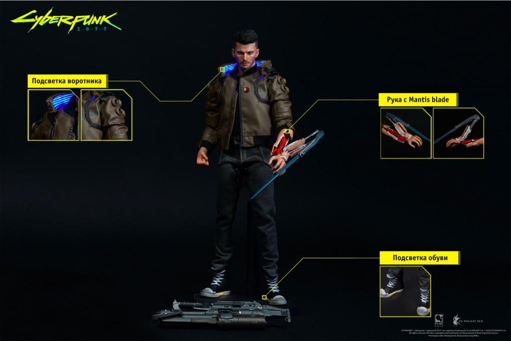 Фигурка Cyberpunk 2077 V Male (мужчина) #2