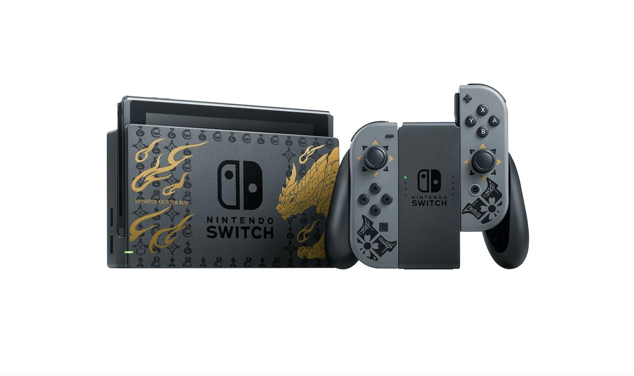 Joy-Con и док-станция Switch Monster Hunter Rise bundle